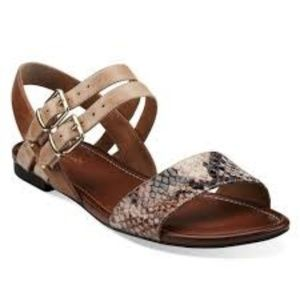 Artisan Indira Rue Flat Sandals Brown Leather